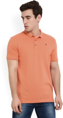 216f34db04 33% OFF on LP Jeans by Louis Philippe Solid Men s Polo Neck Pink T-Shirt on  Flipkart