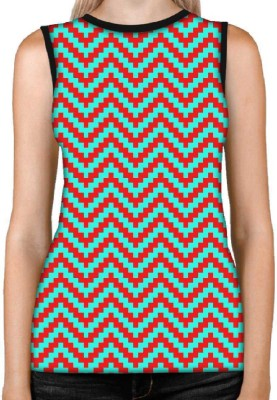 Snoogg Casual Sleeveless Printed Women