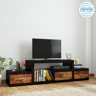 Induscraft Insia Acacia Solid Wood TV Entertainment Unit(Finish Color - Brown)