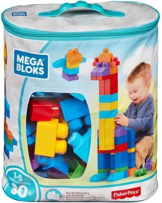 Mega Bloks Big Building Bag 80Pcs Multicolor Mega Bloks Blocks   Building Sets