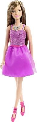 Barbie Glitz Purple Dress(Multicolor)