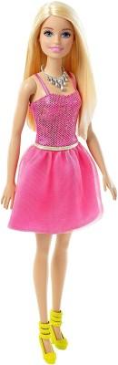 Barbie Glitz Pink Dress(Multicolor)