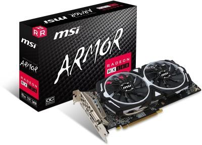 MSI AMD/ATI Radeon RX 580 ARMOR 8G OC 8 GB GDDR5 Graphics Card(Black)