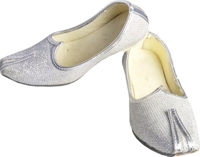 Harshvardhanmart Boys & Girls Slip on Jutis(Silver)