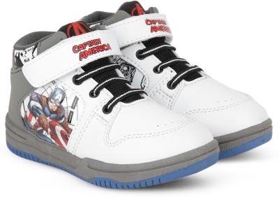 Avengers Boys Velcro Casual Boots(White)