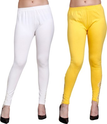 Lili Ankle Length Legging(Black, White, Yellow, Solid)