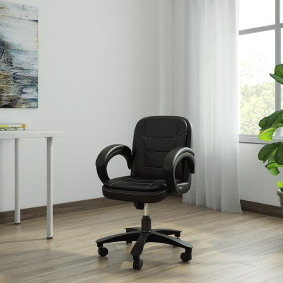 Flipkart Perfect Homes Leatherette Office Executive Chair (Black)