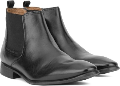 Hush Puppies By Bata NEW FRED CHELSEA Boots For Men(Black)