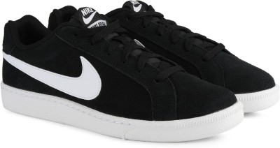 Nike NIKE COURT ROYALE SUEDE Sneakers For Men(Black, White) 1