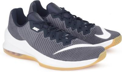 Nike NIKE AIR MAX INFURIATE 2 LOW Basketball Shoes For Men(Black, Grey) 1