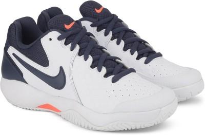 Nike NIKE AIR ZOOM RESISTANCE Tennis shoe For Men(White, Navy) 1
