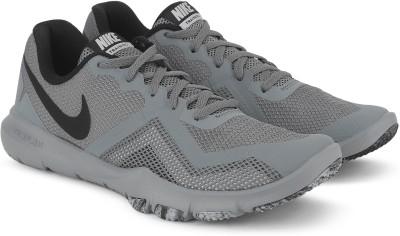 Nike NIKE FLEX CONTROL II Walking Shoes For Men(Grey, Black) 1