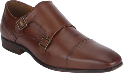Red Tape Formal Leather Slip On For Men(Brown)