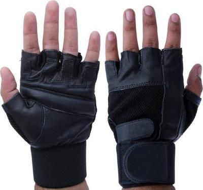 Cp Bigbasket Leather Gym & Fitness Gloves (M, Black)