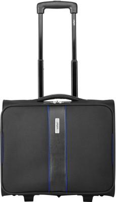 465b1603871 55% OFF on Safari RAZOR LAPTOP TROLLEY Expandable Cabin Luggage - 22 inch(Black)  on Flipkart