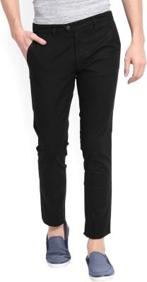 Ruggers Slim Fit Men's Black Trousers