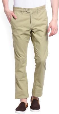 Ruggers Slim Fit Men's Beige Trousers