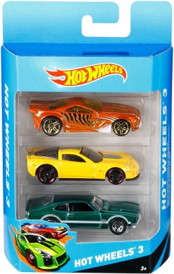 Hot Wheels 3 car gift pack Multicolor Hot Wheels Push   Pull Along