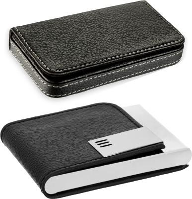 Flipkart SmartBuy Combo of 1 Black Leatherite for Multi Purpose light weight Card Holder Special Edition & 1 Official Modern ATM / ID / DEBIT / CREDIT / VISITNG 15 Card Holder(Set of 2, Multicolor)