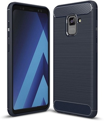 S-Line Back Cover for Samsung Galaxy A5 (2018)(Black, Flexible Case)