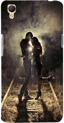 99Sublimation Back Cover for Oppo A37, OPPO A37f(Love On Railway Track, Plastic)