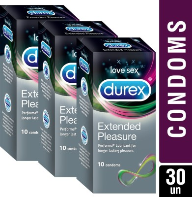 Durex Extended Pleasure Condom(Set of 10, 10S)