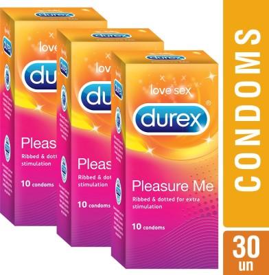 Durex Pleasure Me Condom(Set of 10, 10S)