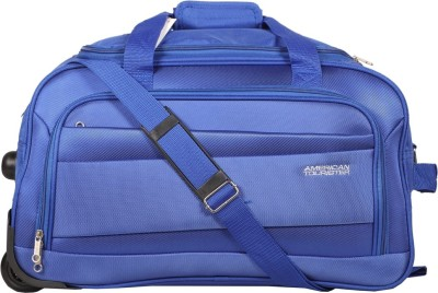 American Tourister Pep Wheel Duffle 65cm (Blue) Travel Duffel Bag(Blue)