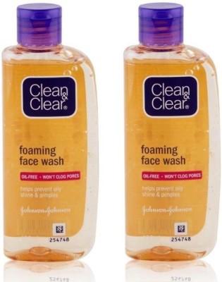 Clean & Clear Foaming Face Wash 150ml + 150ml Face Wash(300 ml)
