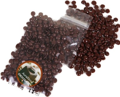 AuraSkin Natural dark chocolate stripless hard wax beans Wax Wax(100 g)