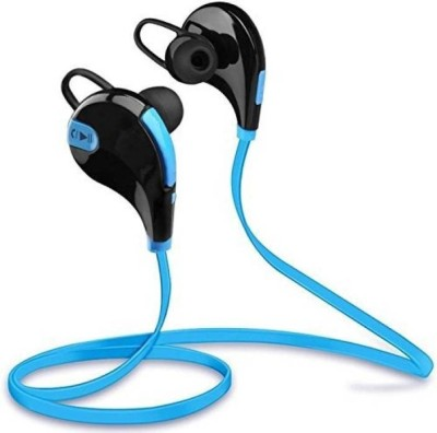 M-STARK CQY-7 Wireless Bluetooth Earphones - Blue Bluetooth Headset with Mic(Blue, In the Ear)