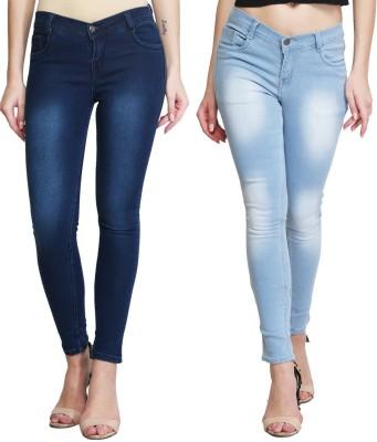KRAZZY INDIA Slim Women Dark Blue Jeans