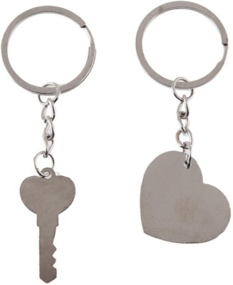 """Men Style 2Pcs His and Hers Stainless Steel \""""I Love You\"""" Heart Key Puzzle For Valentine Gift. Stainless Steel Pendant Set"""