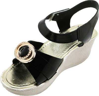 EasySteps Girls Buckle Heels(Black)