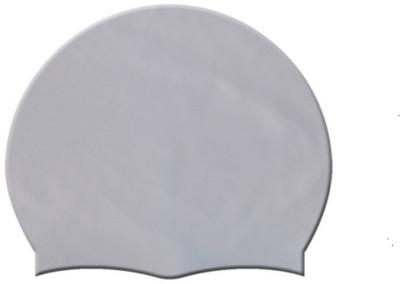YUKI SILVER COLOR SWIMMING CAP Swimming Cap(Silver, Pack of 1)