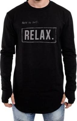IZZARD Printed Men's Round Neck Black T-Shirt