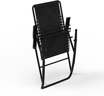 kawachi Outdoor Cpmfort Rocking Chair Metal 1 Seater Rocking Chairs(Finish Color - Black)