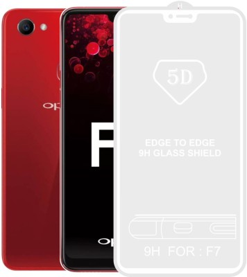 Case Creation Edge To Edge Tempered Glass for OPPO F7(Pack of 1)