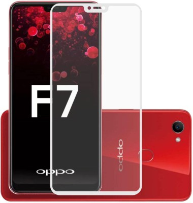 Case Creation Tempered Glass Guard for OPPO F7(Pack of 1)
