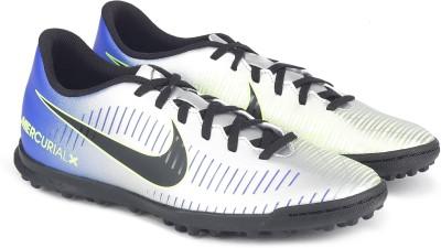 Nike MERCURIALX VORTEX III NJR TF Football Shoes For Men(Silver) 1