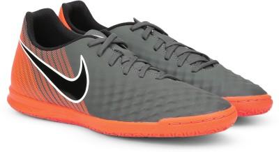 Nike OBRAX 2 CLUB IC Football Shoe For Men(Grey, Orange) 1