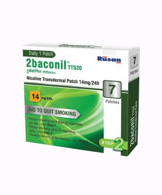 2baconil Nicotine 14 mg step 2 (7 pcs ) 24 hour patch Smoking Patch(Pack of 7)