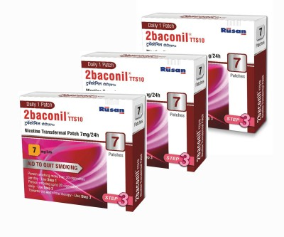 2baconil Nicotine 7 mg step 3 (21 pcs ) 24 hour patch Smoking Patch(Pack of 7)