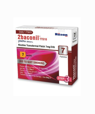 2baconil Nicotine 7 mg step 3 (7 pcs ) 24 hour patch Smoking Patch(Pack of 7)