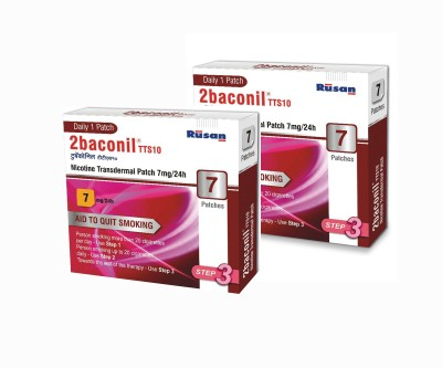 2baconil Nicotine 7 mg step 3 (14 pcs ) 24 hour patch Smoking Patch(Pack of 7)