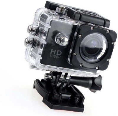 Piqancy 1080 Action Camera Go Pro Style Sports and Action Camera(Black 12 MP)