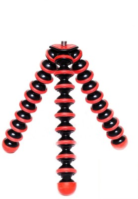 TRYOKART 10 Inch Flexible Gorillapod Tripod With Mobile Attachment For Dslr, Action Cameras, Digital Cameras & Smartphones Tripod(Red)