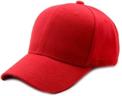 Saifpro Red Cotton Classic Baseball Cap