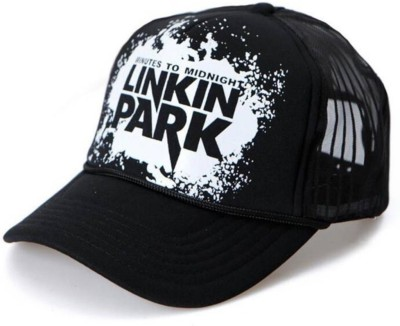 Saifpro Stylish Looks Netted Black Printed baseball Cap Cap