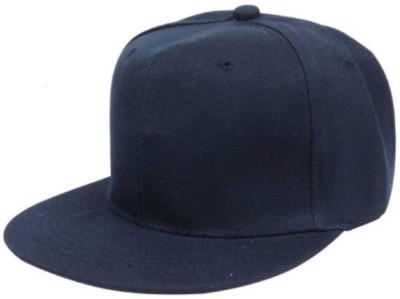 Saifpro Blue Cotton Stylish Hip Hop Cap Cap
